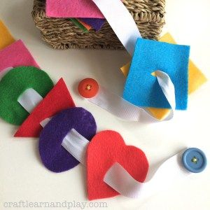 Homemade Button Snake – Fine motor skills toy | Craft Learn & Play