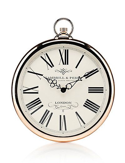Bathroom Wall Clocks: Silver Wall Clock, Mirror