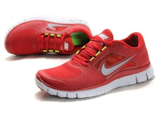 Nike Free Run 5.0 Red 2012 V3 Men Shoes White | Nike free