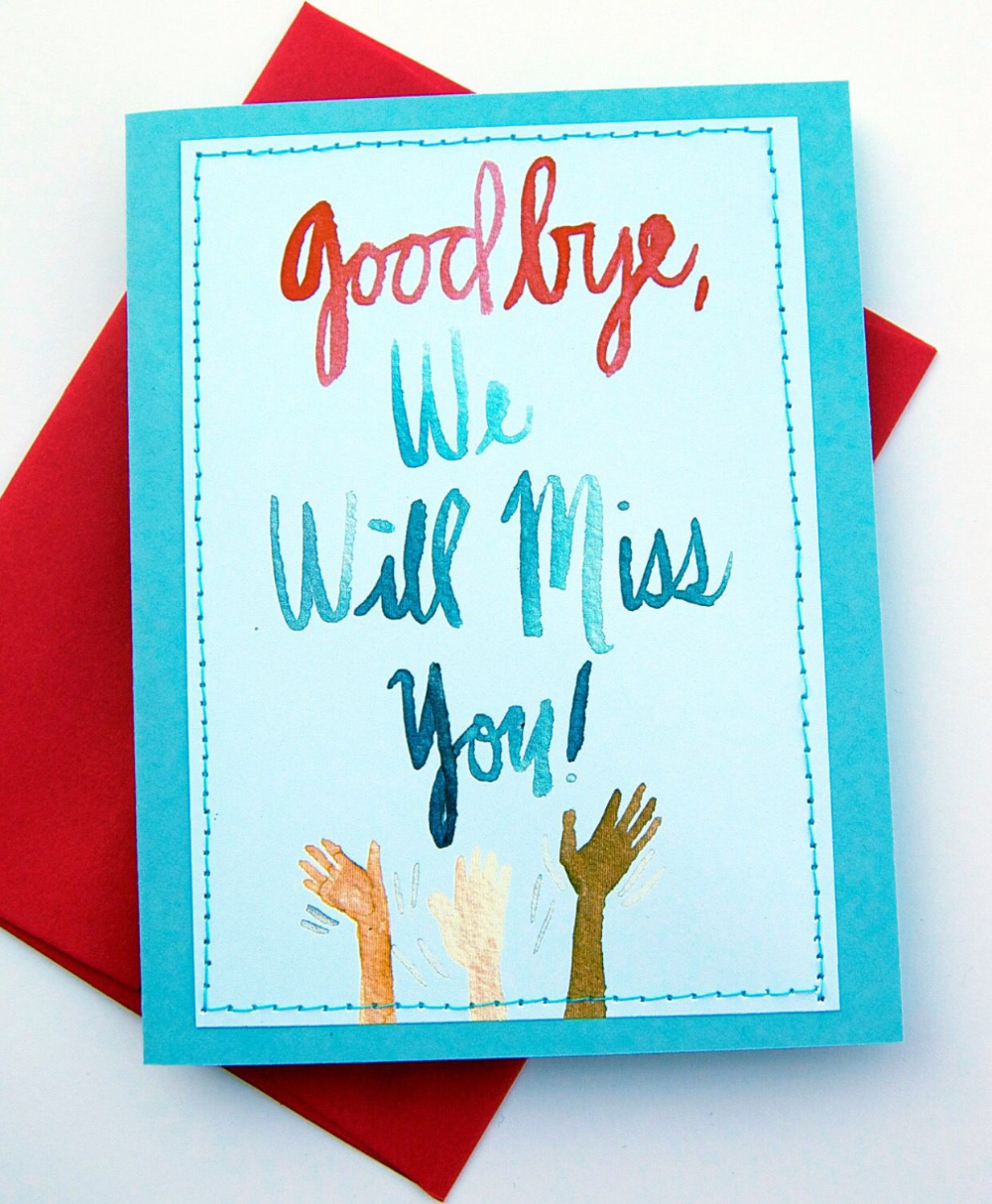 Good Bye Will Miss You Student Teacher Relationship Throughout Sorry You Re Leaving Card Template Farewell Cards Goodbye Cards Farewell Greeting Cards