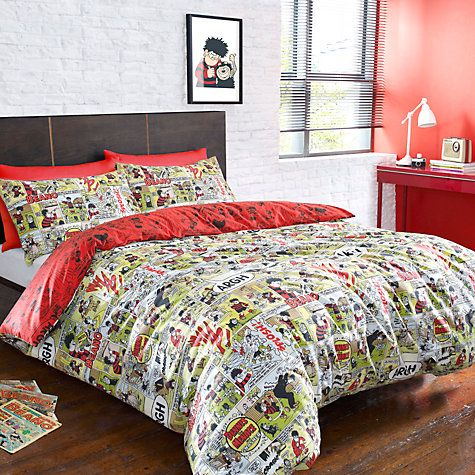 the beano dennis the menace u0026 gnasher bedding quilt duvet curtains cushions
