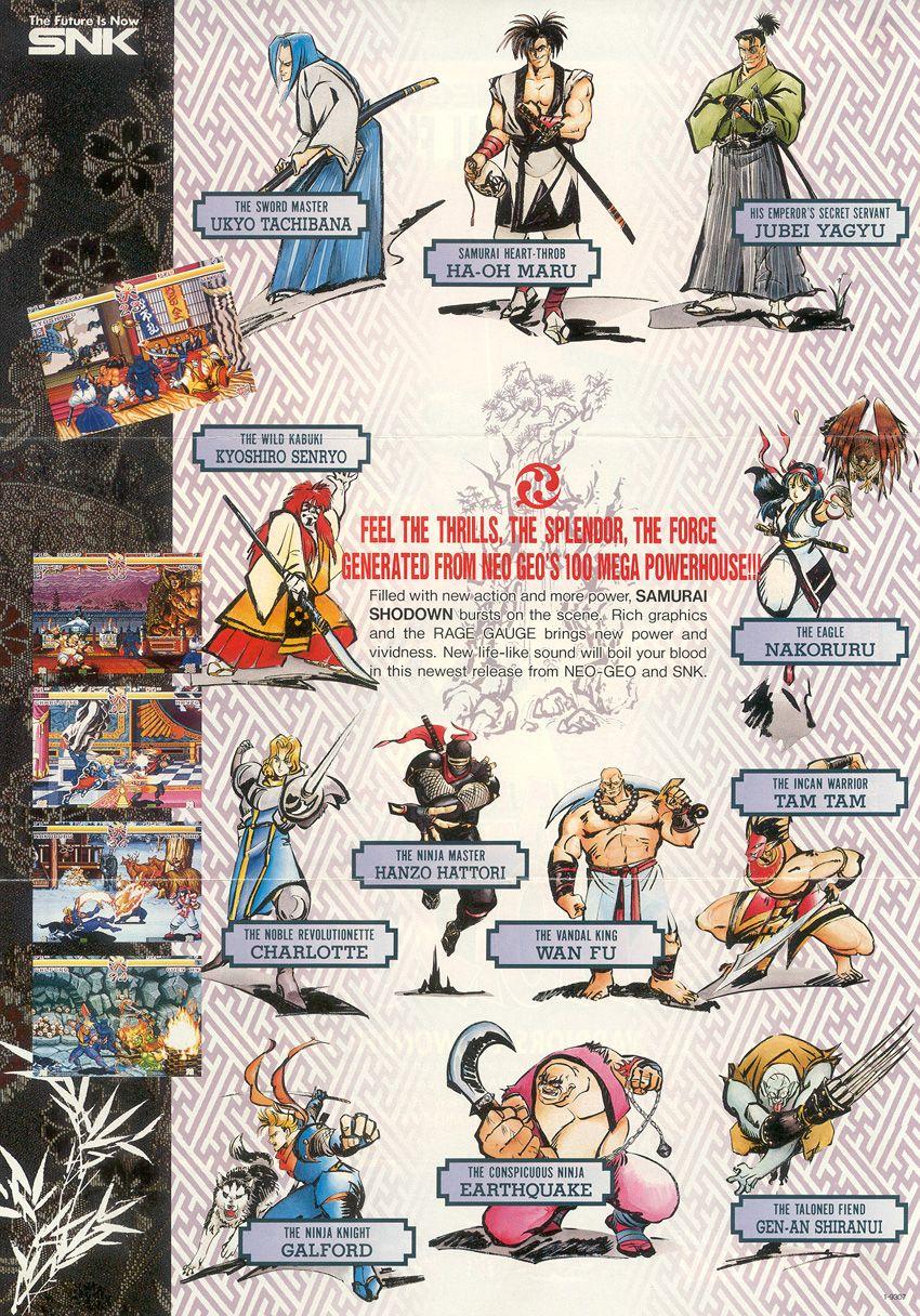 Samurai Showdown - SNK Neo Geo | Old School Game Posters