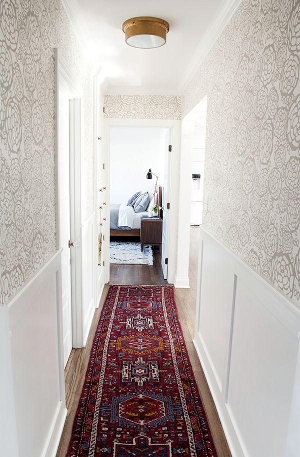 Roundup 12 Amazing Hallway Runners To Suit Your Style Budget Coco Kelley Hallway Runner Hallway Wallpaper Rug Runner Hallway