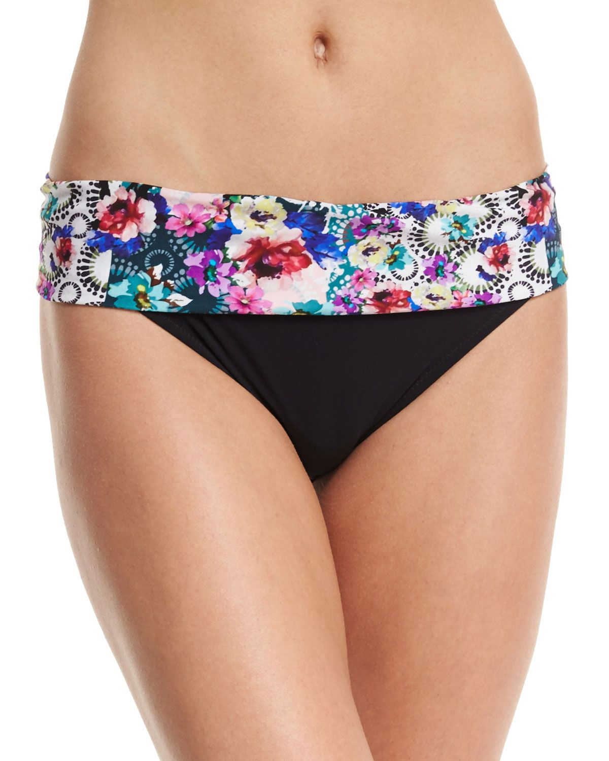 Fuji Printed Fold-over Swim Bottom | *Clothing > Swimwear