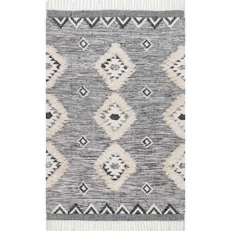 Cawley Hand Knotted Wool Gray Area Rug Reviews Allmodern Wool Area Rugs Fringe Rugs Area Rugs