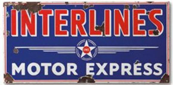 Sign for interlines Motor Express.