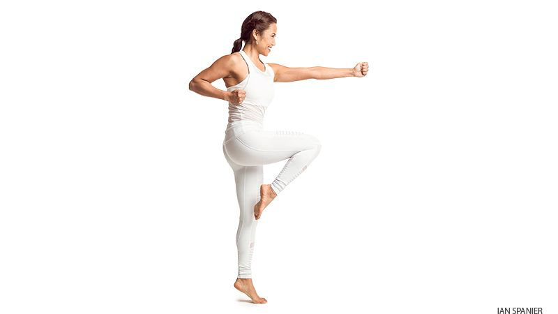 Try this quick yoga sequence to gain a little courage
