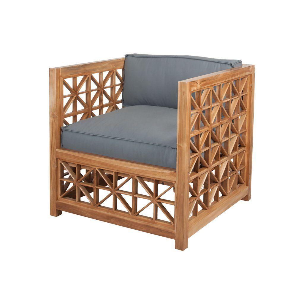 898 20 Guild Master Teak Lattice Chair In Euro Teak Oil Teakfurniture Teak Furniture Outdoor Chair Cushions Teak Oil
