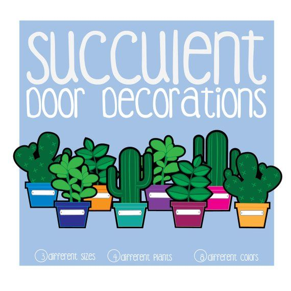 picture relating to Printable Door Decorations named Succulent Doorway Decoration Printable, Doorway Dec, RA, Dwelling