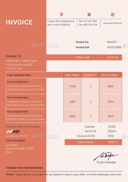 Invoice Template Proposals Invoices Pinterest Invoice