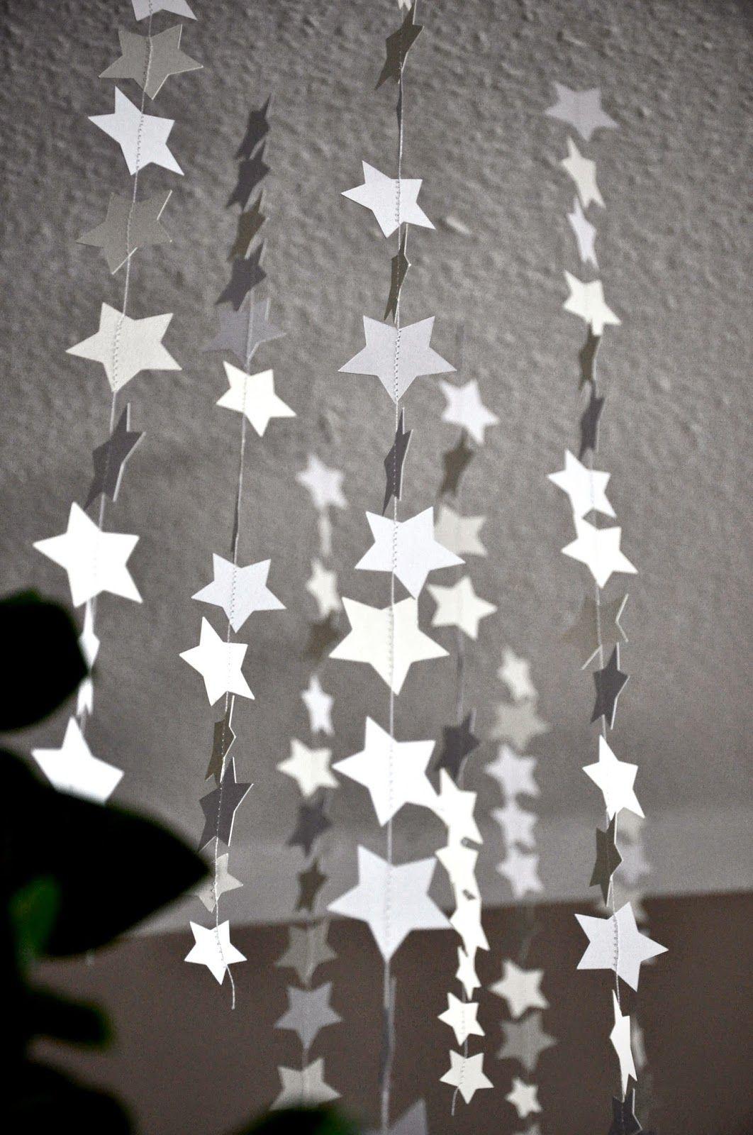 sternenregen silhouette cameo weihnachtsgirlande christmas garland blog hop. Black Bedroom Furniture Sets. Home Design Ideas
