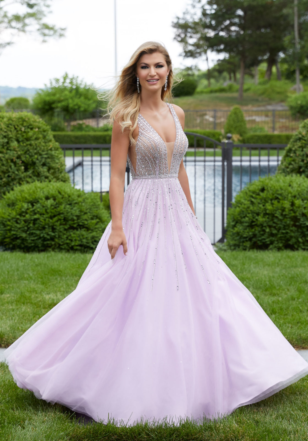 Lilac Prom Dresses,Tulle Prom Dress for Teens,Elegant Prom
