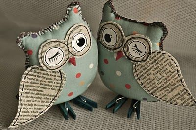 Ria Nirwana created these 3D Owl patterns sewn by her mother's hands. -   24 fabric owl crafts