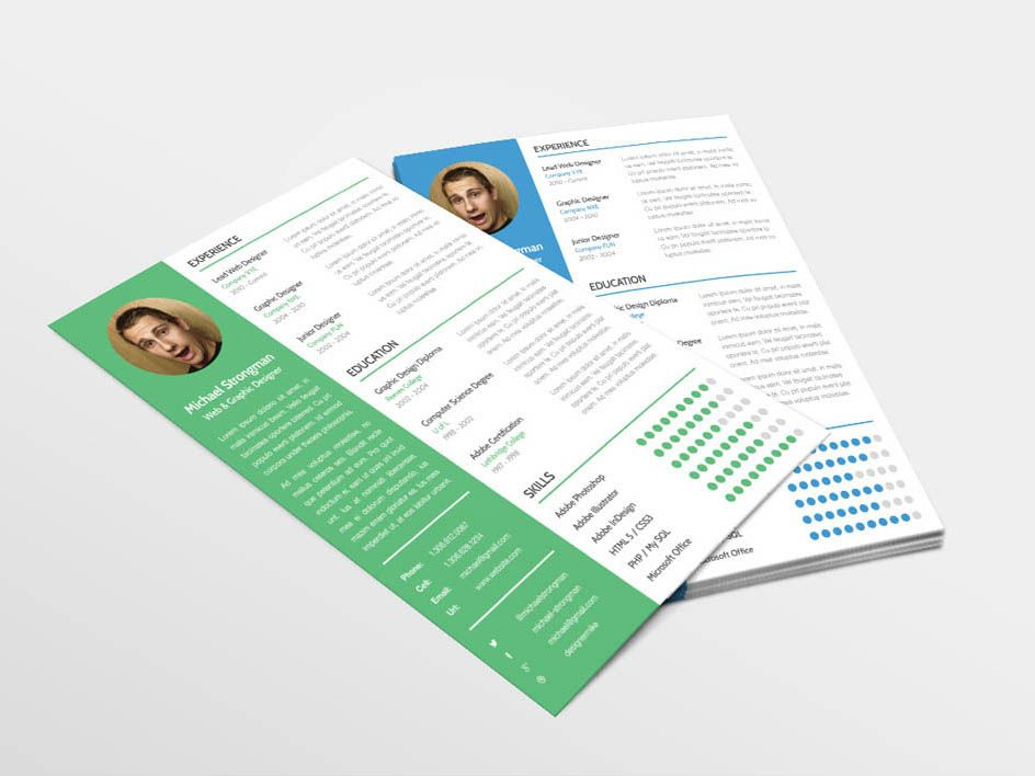 Free resume template for good first impression resume
