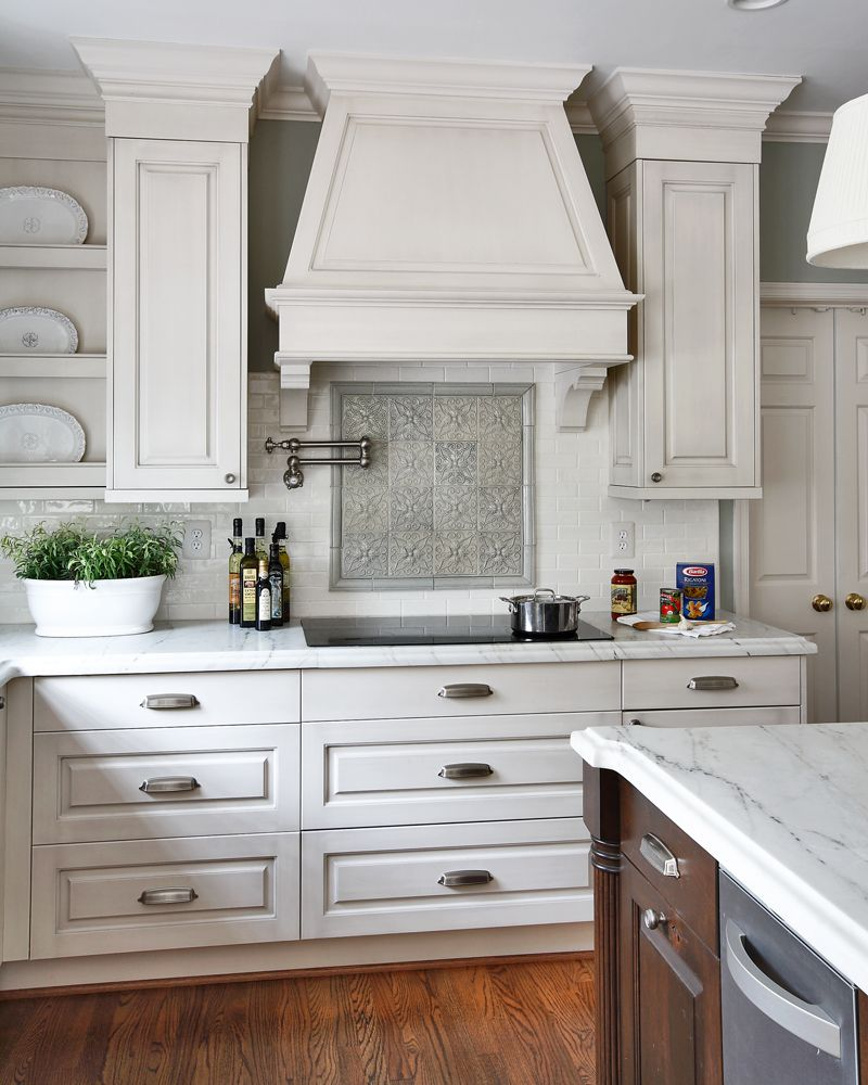 White Kitchen Cabinets In Or Out: A Custom Wood Hood That Matches The Cabinets Supported By