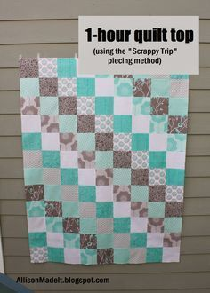 1 Hour Quilt Top Tutorial Baby Quilt Patterns Baby Quilts Easy Quilts