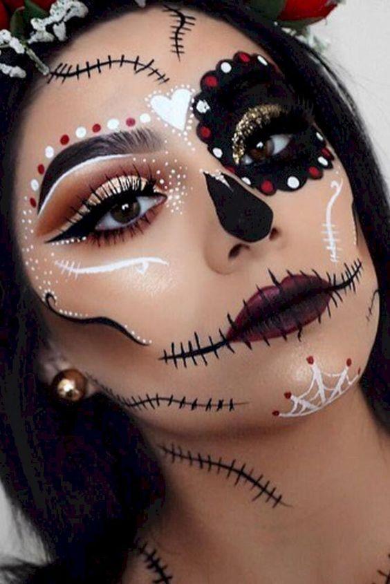 Check latest halloween makeup easy simple cute, halloween