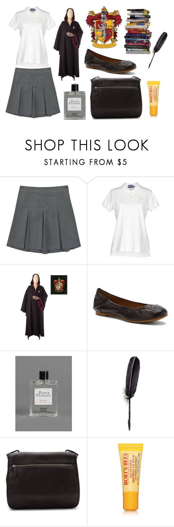 """""""Hermione's Outfit"""" by acciopotterbook ❤ liked on Polyvore featuring moda, Ralph Lauren, Juil, Escentric Molecules, Maison Margiela, ECCO, Burt's Bees, school, hogwarts e HermioneGranger"""