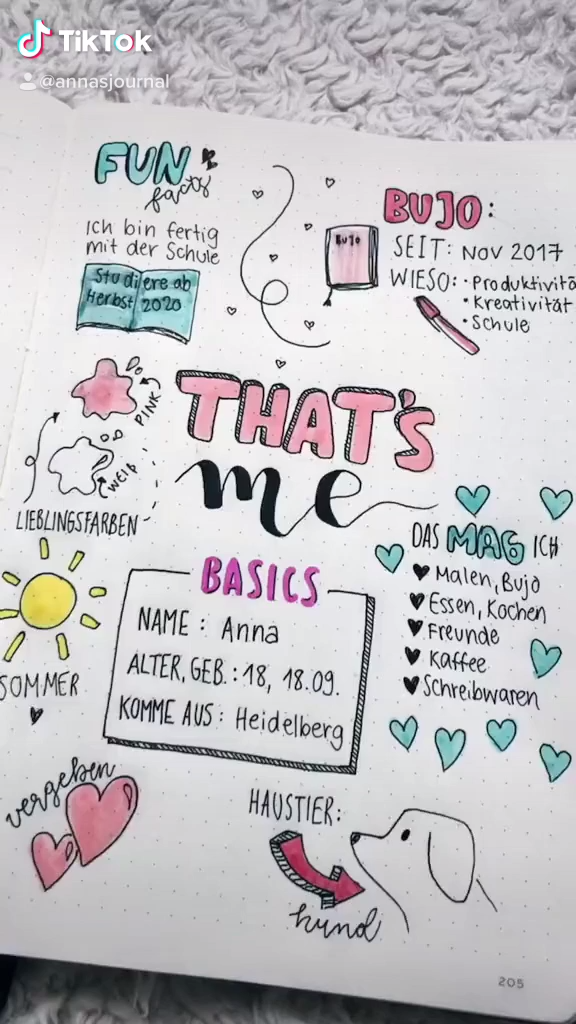 That's Me Bullet Journal