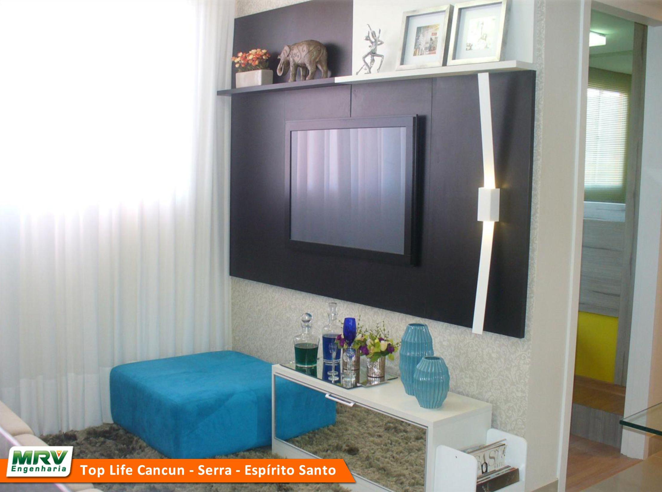 Apartamento Decorado 2 Quartos Do Top Life Cancun No Bairro Novo  -> Apartamento Mrv Decorado Fotos