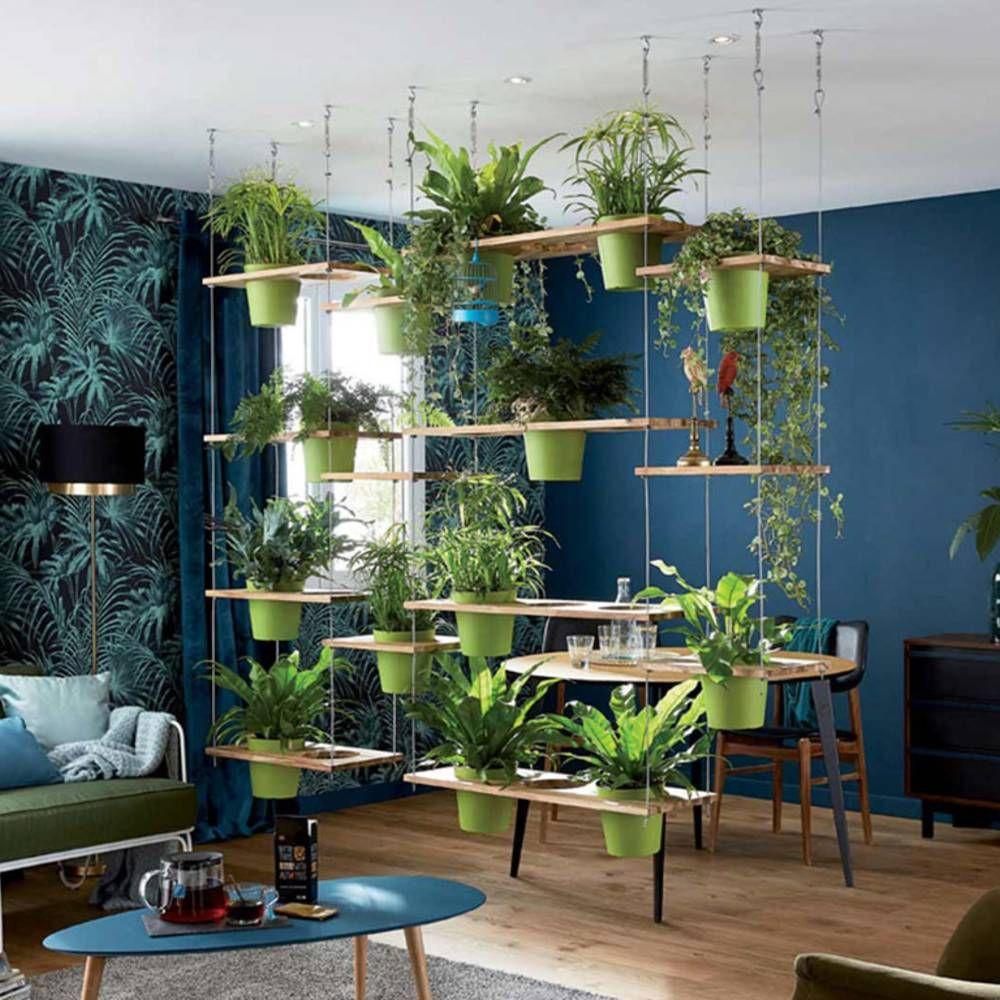 separer les espaces via un mur vegetal suspendu