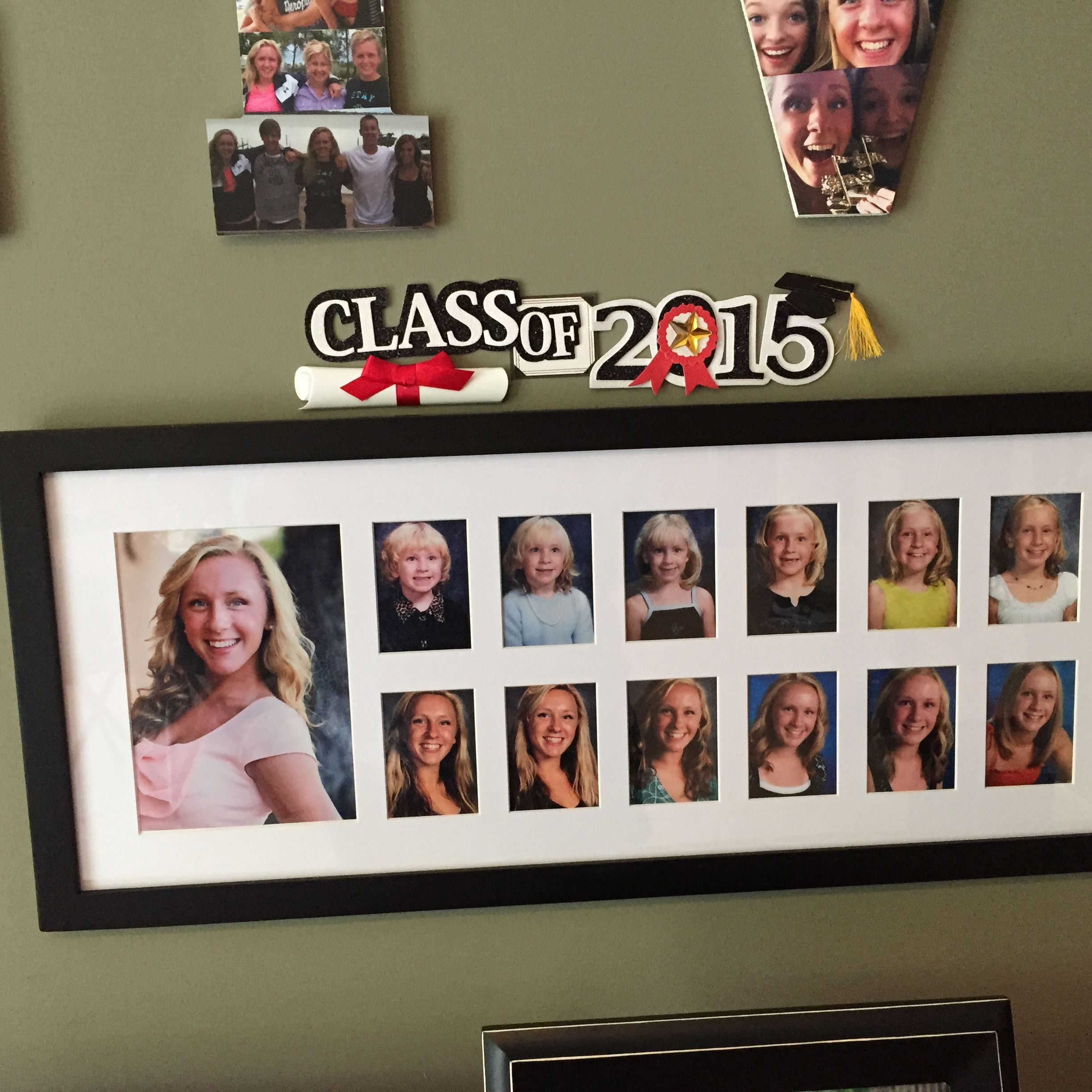 Picture Frame With Every School Picture Kindergarten To 12th Grade