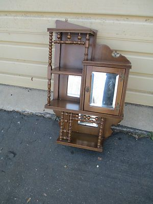 Antique Victorian Whatnot Shelf Curio Wall Cabinet