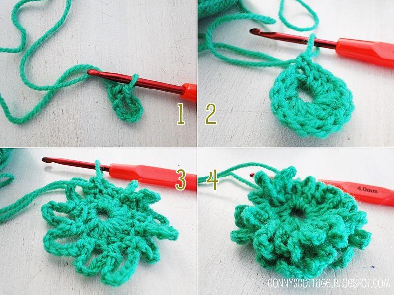 Diy crochet flower Connys Cottage | Crochet | Pinterest | Selber ...