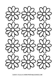 Daisy Coloring Page Printables for Kids free word