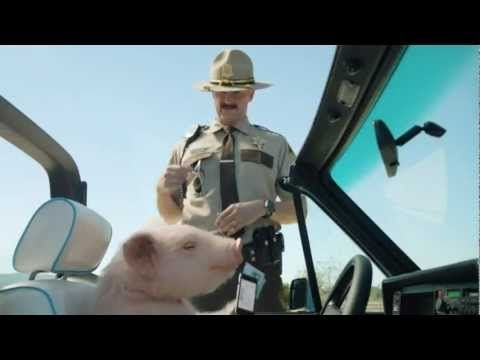 Geico Piggy Pulled Over Commercial Pig Driving A Convertible