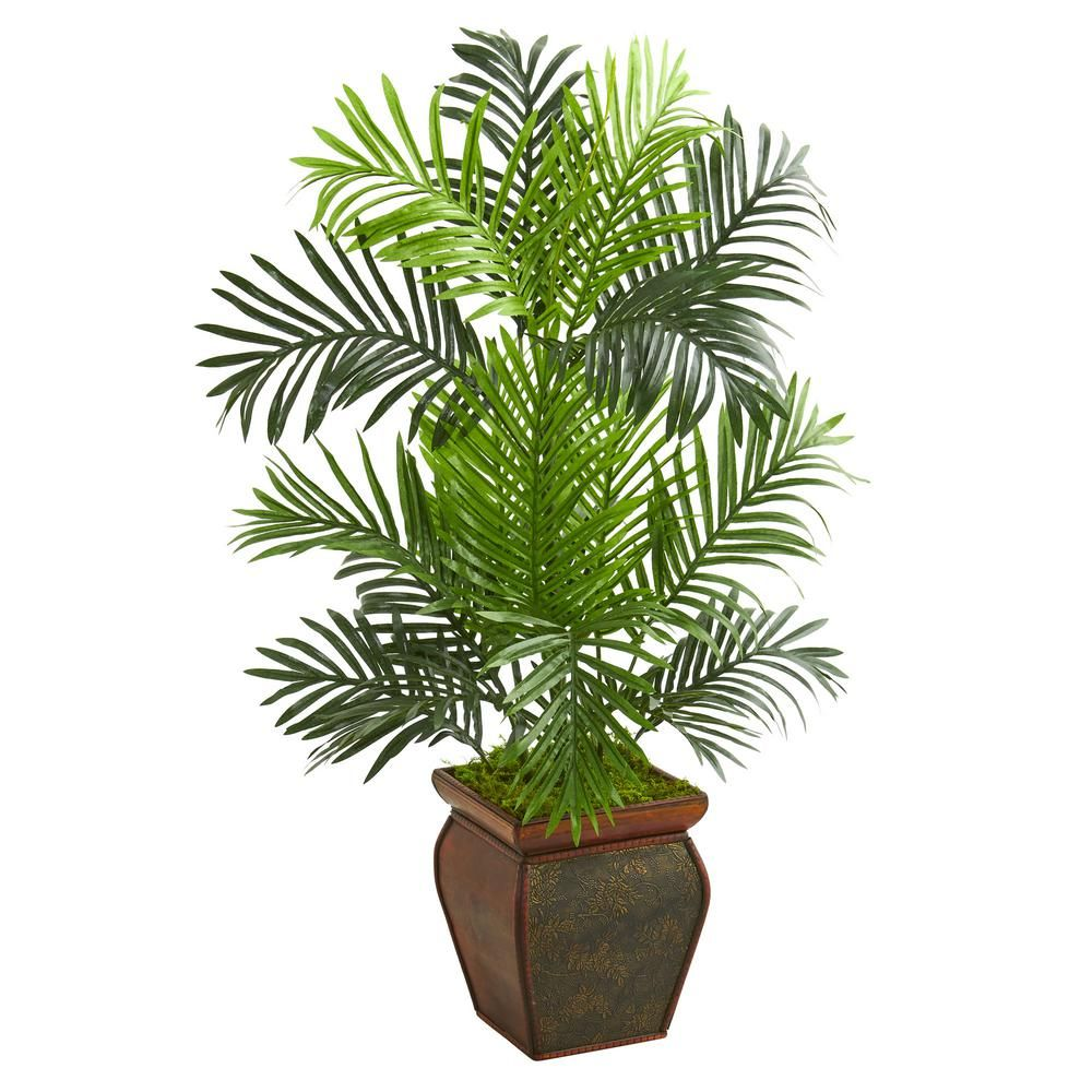 Indoor ft paradise palm artificial tree in decorative planter