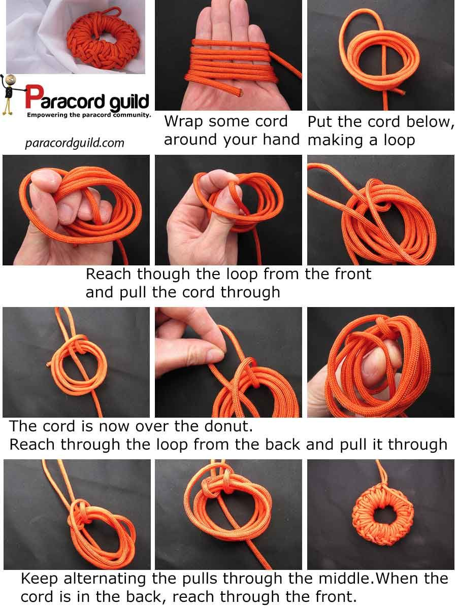 PARACORD DONUT (for storage of Paracord) - Paracordguild.com