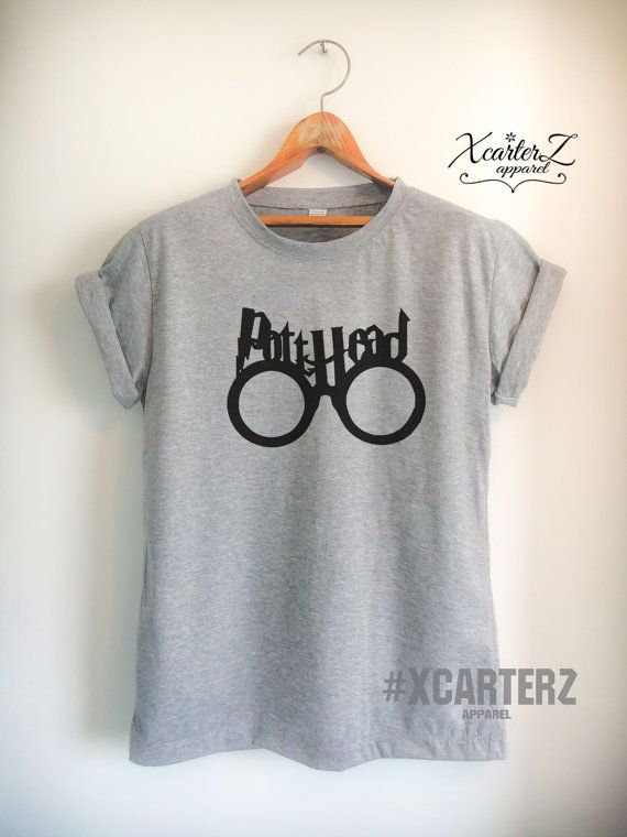 b2826647 Pott Head Shirt with Glasses Shirt Unisex Women Men Potter T-Shirt  White/Black/Grey/Red