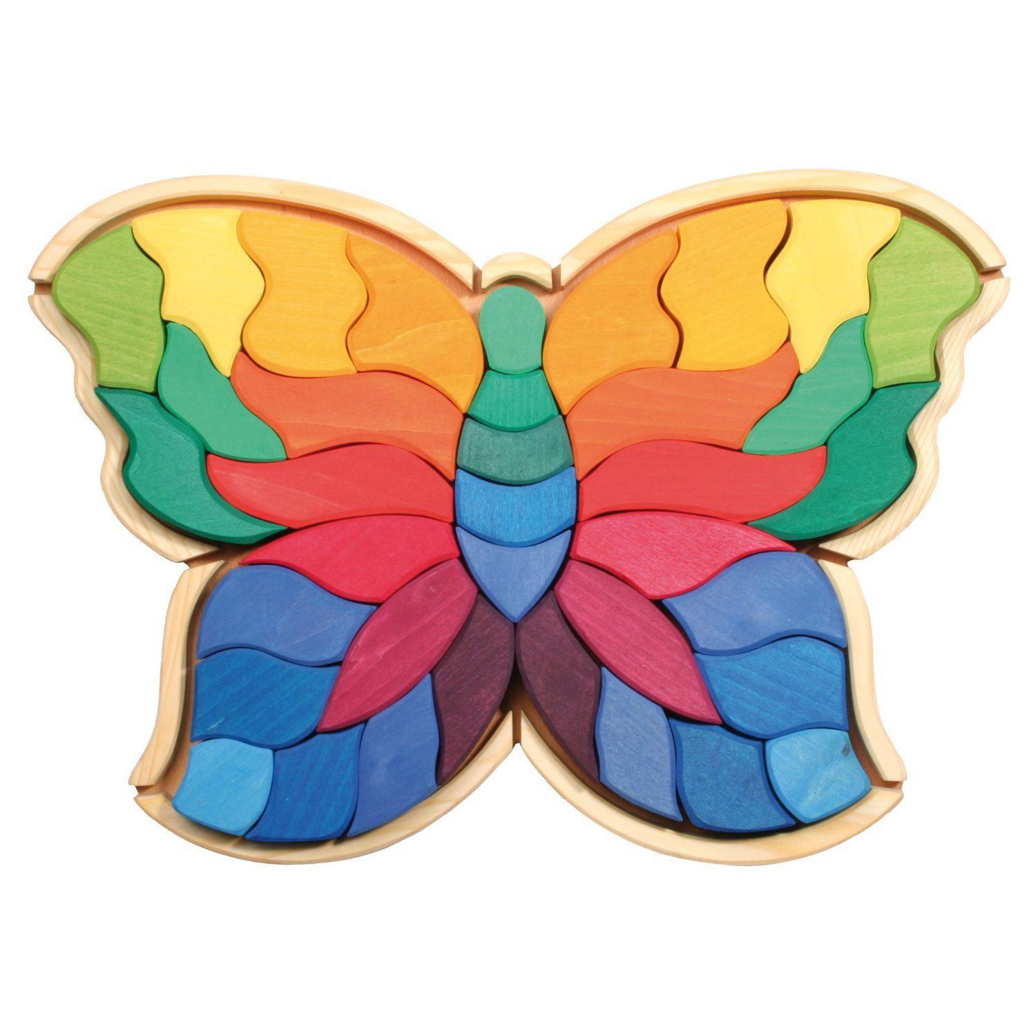 Amazon Grimm s Giant Butterfly Creative Puzzle with 37 Wooden