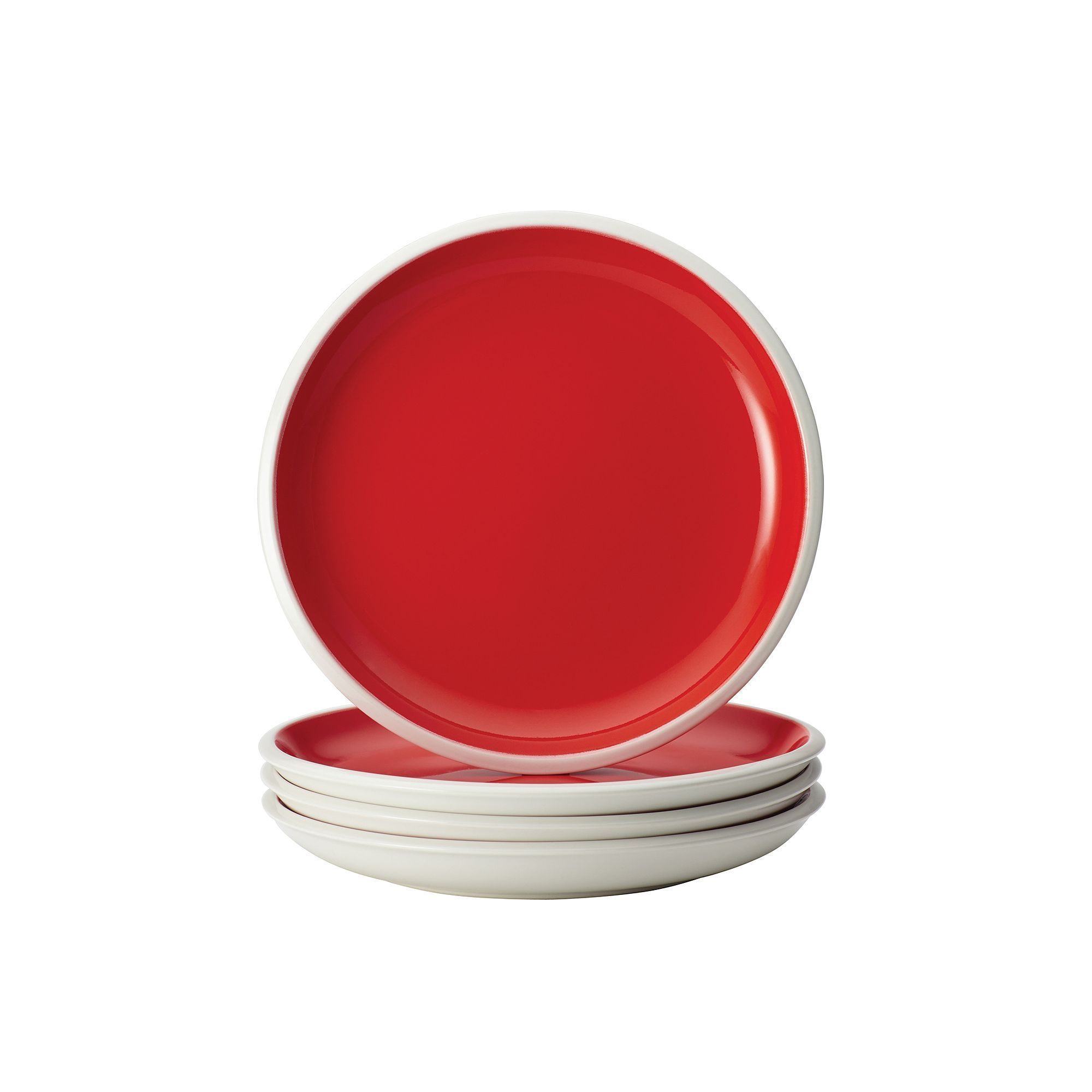 Rachael Ray Rise 4 Pc Salad Plate Set Red Plate Sets Rachael
