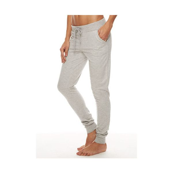 TALL French Terry Jogger (48 AUD) ❤ liked on Polyvore featuring activewear, activewear pants, heather gray, tall activewear and alloy apparel