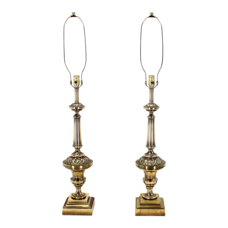 Pair Of Brass Stiffel Table Lamps Stiffel Table Lamp Lamp