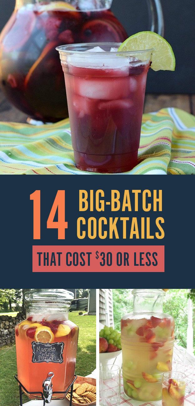 Photo of 14 Big-Batch Cocktails For Summer That Cost $30 Or Less