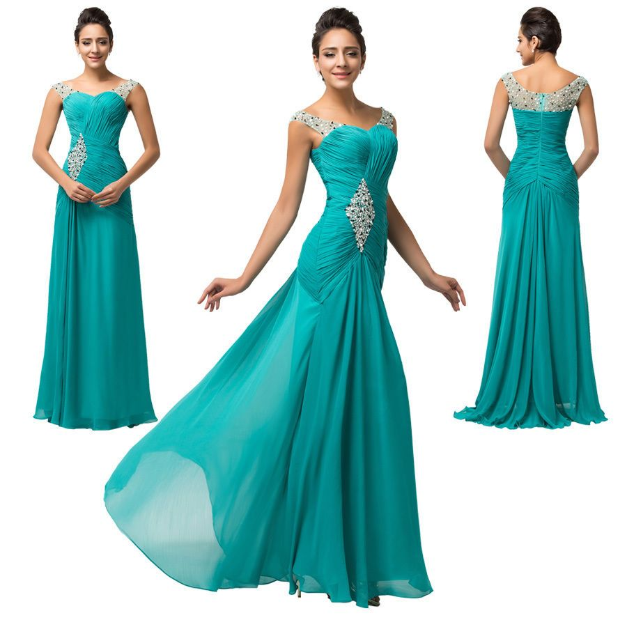 Sale cheap long bridesmaid evening prom ball gowns formal party
