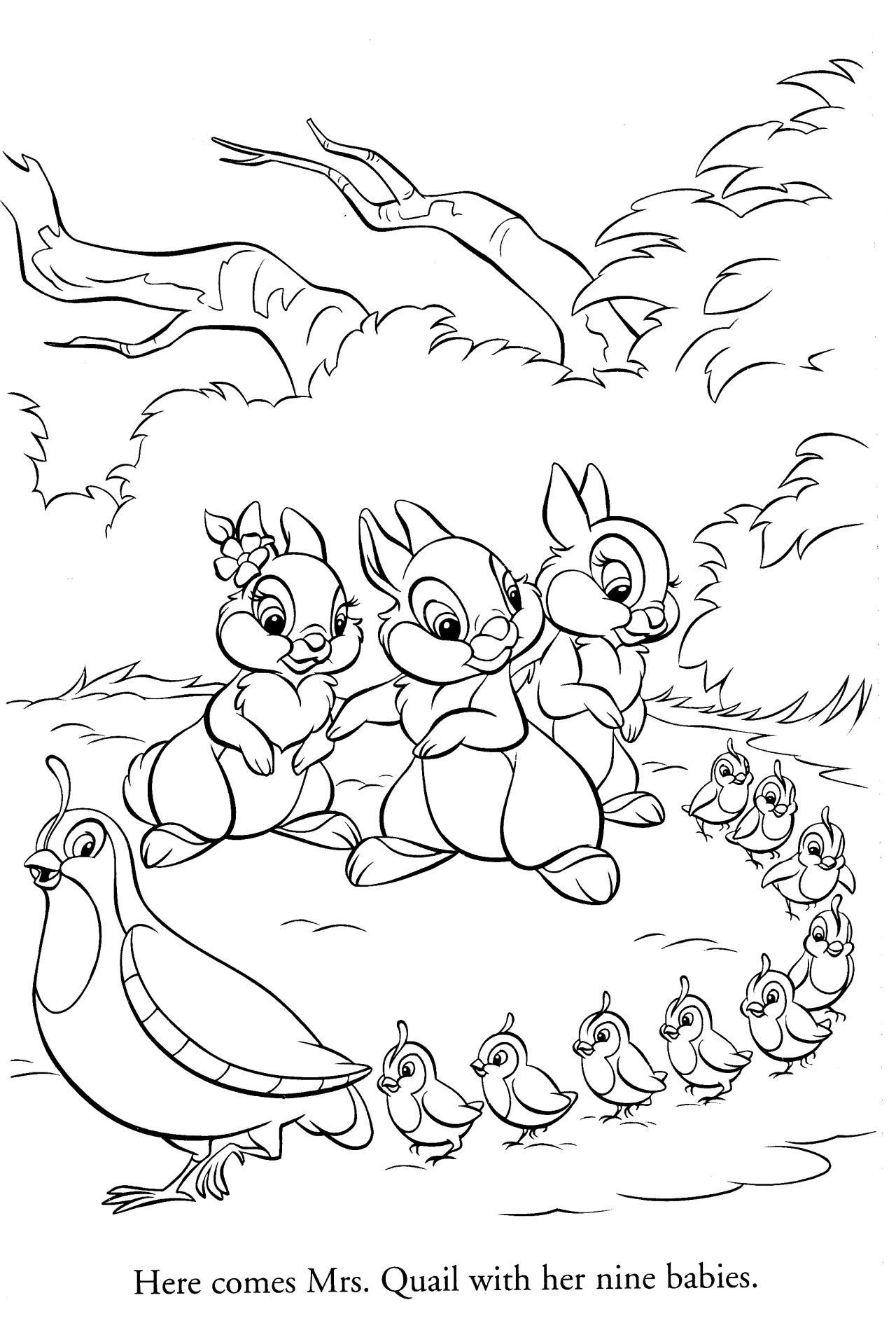 Disney Coloring Pages Disegni Disegni Bambini Bambi E Disegni