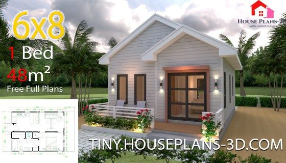Best Studio House Plans 6X8 Gable Roof With Images Small 400 x 300
