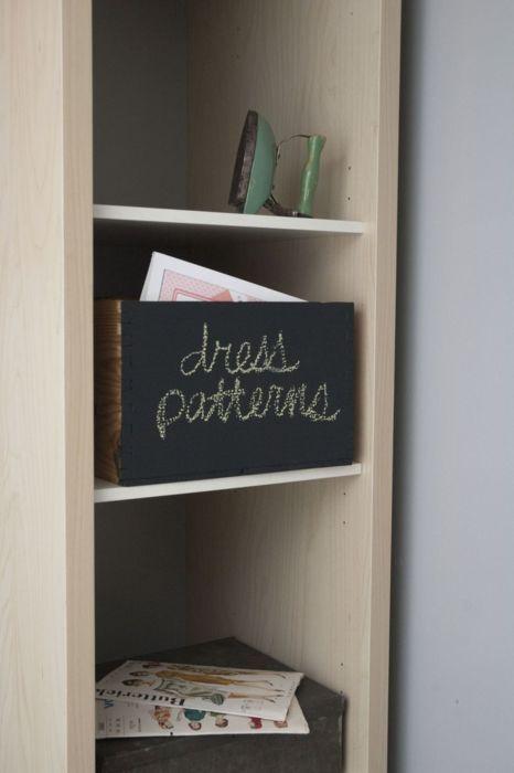 chalkboard wine box. #storage #diy