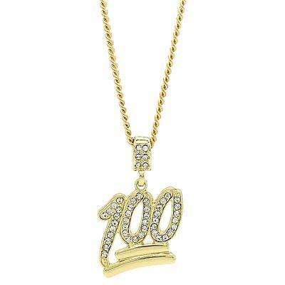 6b459568168ec Mens 14k Gold Plated Emoji 100 Cz Pendant Hip-Hop 30