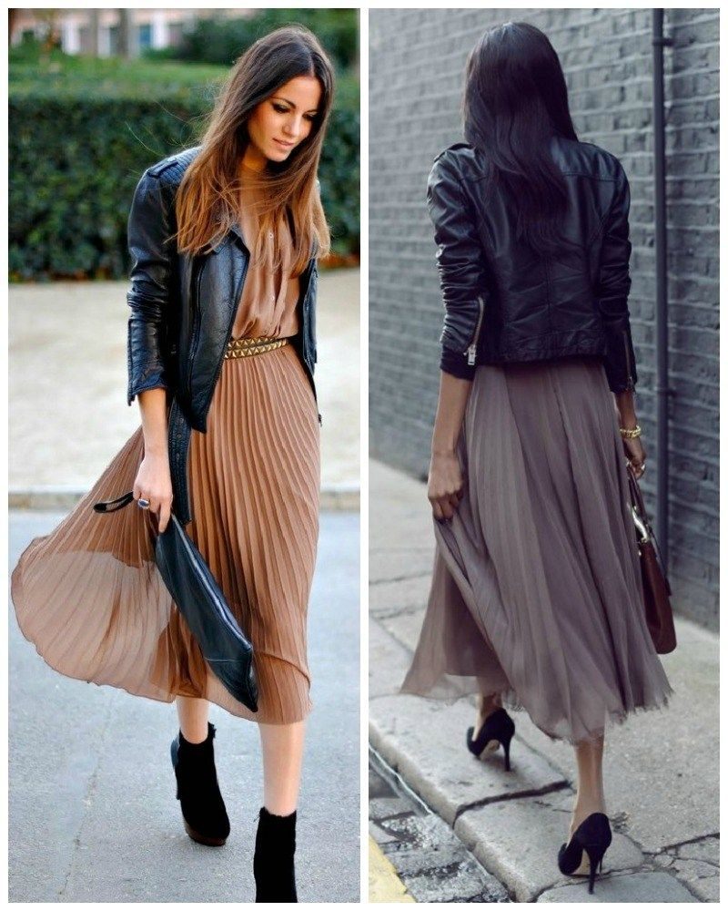 Fashion Trends, Cute Dressy Dresses Mixed With Black Leather