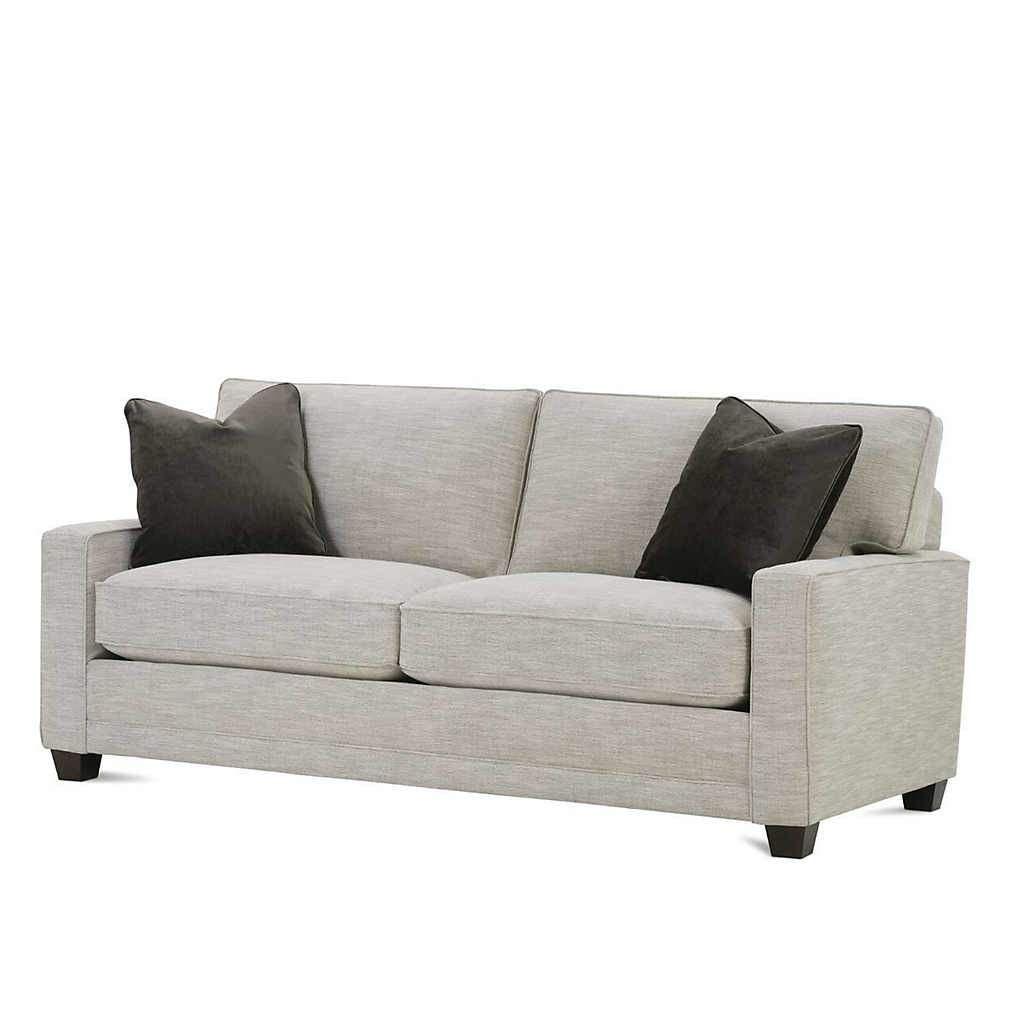 2 Cushion Sofa With Feather Down Pillows Cushions On Sofa Sofa