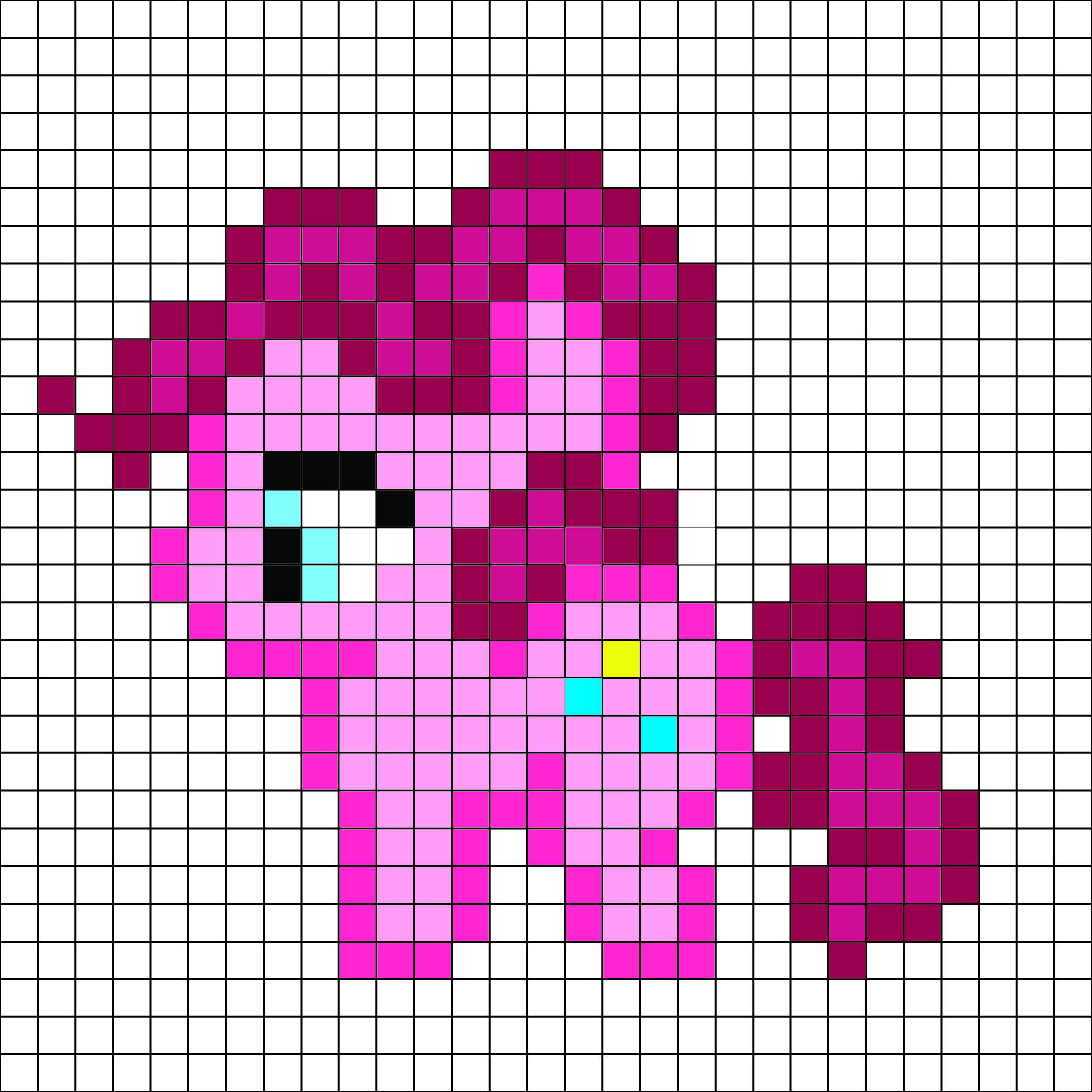 image regarding Pony Bead Patterns Free Printable called My minimal pony - Pinkie Pie behavior - by means of me For a totally free and