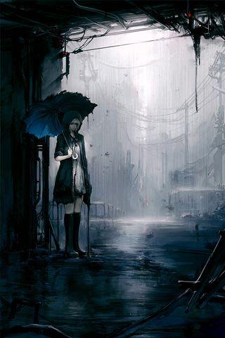 Dark City Painting Hd Iphone Wallpapers Store Dark City City