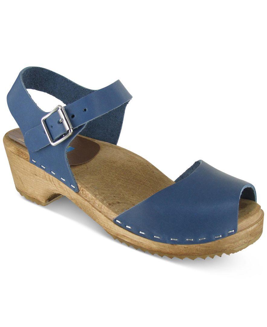 Mia Anja Wooden-Platform Sandals