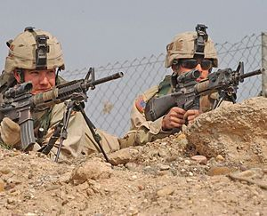 Squad Designated Marksmen - Soldiers from the 3rd Infantry Division with SDM rifles.