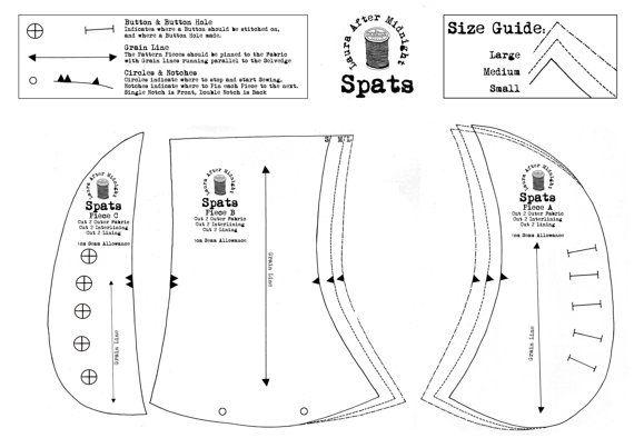 Dusken Spats PDF Sewing Pattern Victorian Edwardian
